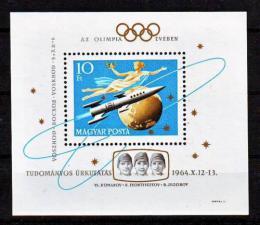 Poštovní známka Maïarsko 1964 Prùzkum vesmíru Mi# Block 44