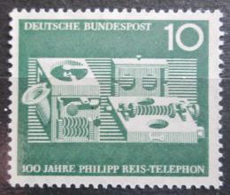 Poštovní známka Nìmecko 1961 Telefon, 100. výroèí Mi# 373