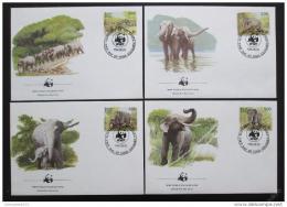 FDC Srí Lanka 1986 Sloni, WWF 039 Mi# 753-56 Kat 70€