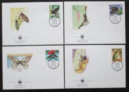 FDC Papua Nová Guinea 1988 Motýli, WWF 070 Mi# 574-77