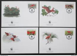 FDC Trinidad a Tobago 1990 Ibis, WWF 101 Mi# 596-99
