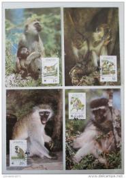 Maxikarty Svatý Kryštof 1986 Opice, WWF 043 Mi# 184-87
