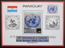 Poštovní známka Paraguay 1981 Výroèí OSN VELKÁ RARITA - JEN 3800 EMISÍ