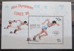 Poštovní známka Laos 1988 LOH Soul Mi# Block 121