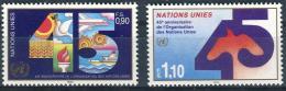 Poštovní známky OSN Ženeva 1990 Výroèí OSN Mi# 188-89
