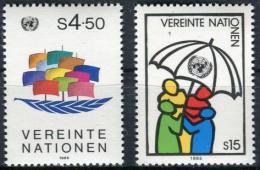 Poštovní známky OSN Vídeò 1985 Symboly Mi# 49-50