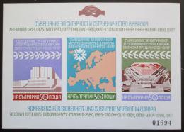 Poštovní známky Bulharsko 1987 Spolupráce v Evropì, neperf. Mi# Block 176 B Kat 20€