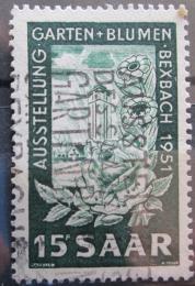 Poštovní známka Sársko 1951 Výstava kvìtin Mi# 307
