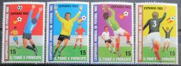 Poštovní známky Svatý Tomáš 1982 MS ve fotbale Mi# 754-57