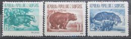 Poštovní známky Albánie 1961 Místní fauna Mi# 627-29 Kat 30€