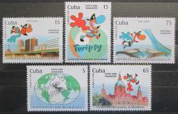 Poštovní známky Kuba 1999 Výstava EXPO Mi# 4232-37