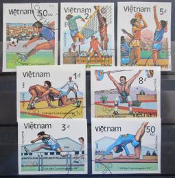 Poštovní známky Vietnam 1984 LOH Los Angeles Mi# A-G 1451 B