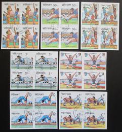 Poštovní známky Vietnam 1984 LOH Los Angeles neperf. ètyøbloky Mi# A-G 1451 B