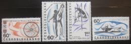 Poštovní známky Èeskoslovensko 1967 Sport Mi# 1701-04 Po# 1607-10