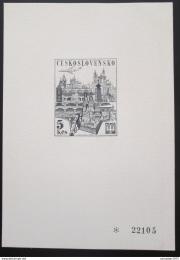 Poštovní známka Èeskoslovensko 1967 Výstava PRAGA èernotisk Mi# 1744 Kat 50€