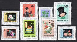 Poštovní známky Maïarsko 1963 Nový rok Mi# 1983-90