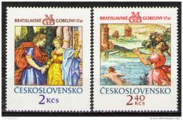 Poštovní známky Èeskoslovensko 1974 Gobelíny Mi# 2214-15 Po# 2102-03