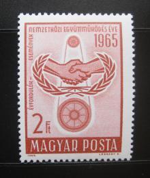 Poštovní známka Maïarsko 1965 Výroèí OSN Mi# 2136