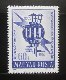 Poštovní známka Maïarsko 1965 ITU kongres Mi# 2124