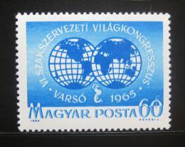 Poštovní známka Maïarsko 1965 Odborový kongres Mi# 2174