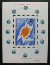 Poštovní známka Maïarsko 1965 Rok Slunce Mi# Block 46