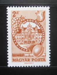 Poštovní známka Maïarsko 1968 Kecskemét, 600. výroèí Mi# 2397