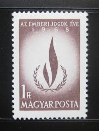 Poštovní známka Maïarsko 1968 Lidská práva Mi# 2473