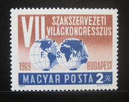 Poštovní známka Maïarsko 1969 Kongres odborù Mi# 2545