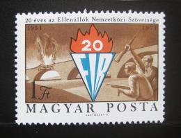 Poštovní známka Maïarsko 1971 Výroèí FIR Mi# 2681