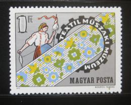 Poštovní známka Maïarsko 1972 Muzeum textilu Mi# 2824