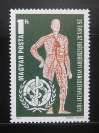 Poštovní známka Maïarsko 1973 Výroèí WHO Mi# 2863