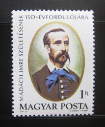 Poštovní známka Maïarsko 1973 Imre Madách, básník Mi# 2833