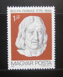 Poštovní známka Maïarsko 1975 Farkas Bólyai, matematik Mi# 3021