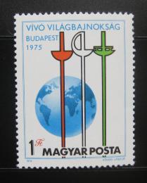 Poštovní známka Maïarsko 1975 MS v šermu Mi# 3054
