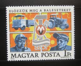 Poštovní známka Maïarsko 1976 Bezpeènost práce Mi# 3124