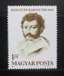 Poštovní známka Maïarsko 1980 Károly Kisfaludy, básník Mi# 3460