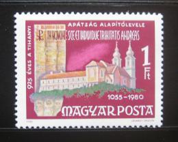 Poštovní známka Maïarsko 1980 Klášter Tihany Mi# 3419