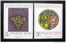 Poštovní známky Èeskoslovensko 1975 Pražský hrad Mi# 2291-92 Po# 2173-74