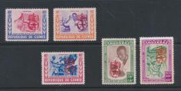 Poštovní známky Guinea 1962 Boj proti malárii Mi# IV-VIII Kat 20€