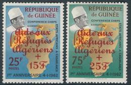 Poštovní známky Guinea 1962 Uprchlíci z Alžírska Mi# 143-44