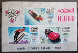 Poštovní známky Fudžajra 1968 ZOH Grenoble Mi# Block 9