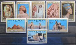 Poštovní známky Fudžajra 1966 Starý Egypt Mi# 49-57 B Kat 17€