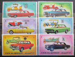 Poštovní známky Umm al-Kuvajn 1972 Automobily Mi# 637-42