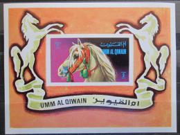 Poštovní známky Umm al-Kuvajn 1972 Konì Mi# Block 36