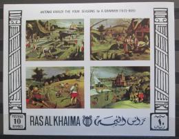 Poštovní známky Rás al-Chajma 1969 Umìní neperf. Mi# Block 70 B Kat 17€