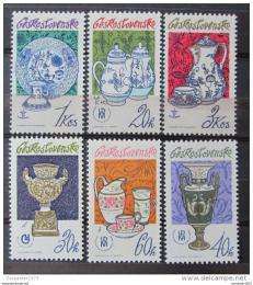 Poštovní známky Èeskoslovensko 1977 Porcelán Mi# 2381-86 Po# 2257-62