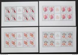 Poštovní známky Èeskoslovensko 1977 Lidové kroje Mi# 2387-90 Bogen Po# 2263-66 PL