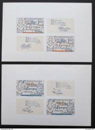 Poštovní známky Èeskoslovensko 1977 Spolupráce v Evropì Mi# 2407-08 Po# 2273-74