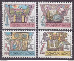 Poštovní známky Èeskoslovensko 1988 Výstava Praga Mi# 2957-60 Po# 2842-45