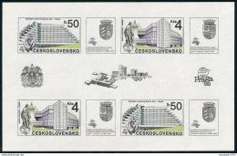 Poštovní známky Èeskoslovensko 1988 Praha Mi# Block 85 Po# 2857 A